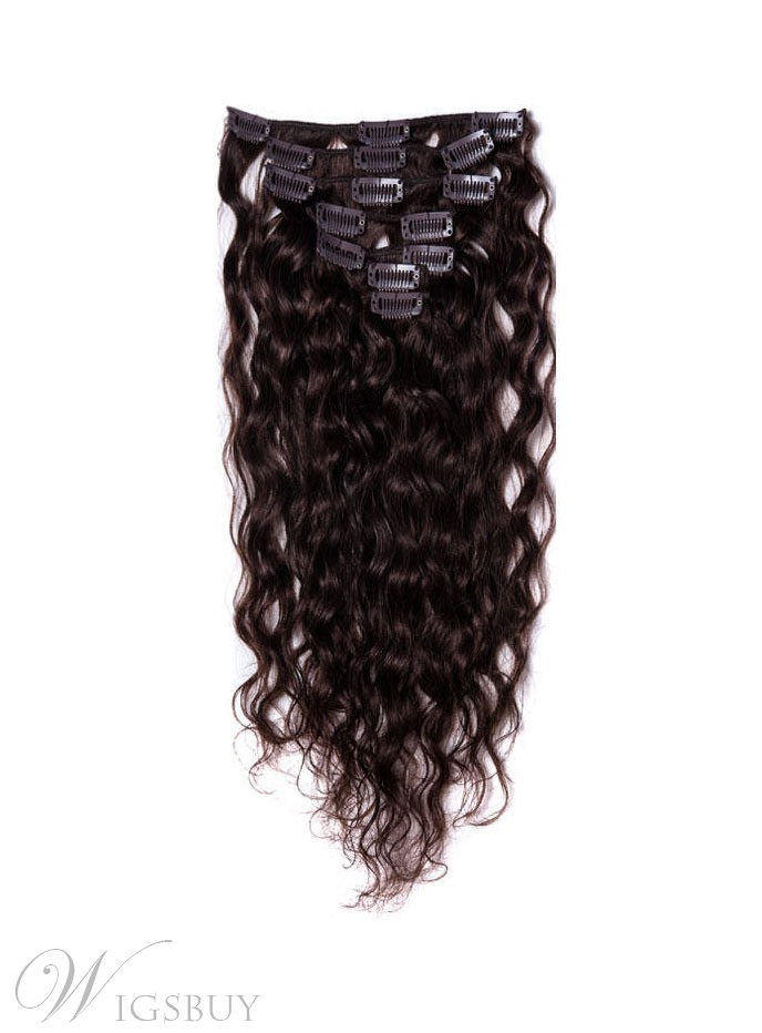 Remy Human Hair Curly 7pcs Clip In Human Hair Extensions Wigsbuy