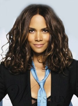 Halle Berry Middle Parting Body Wave Human Hair Lace Front Wigs 14 Inches