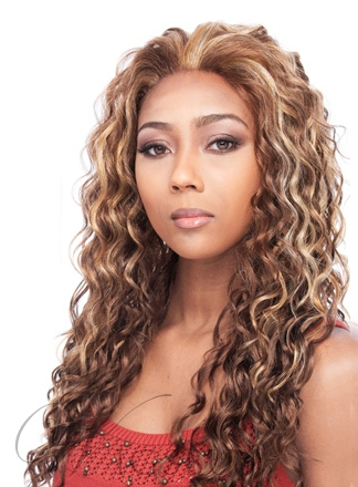 Top Quality Hand Tied Long Curly 22 Inches Brown Hot Sale Lace Wig