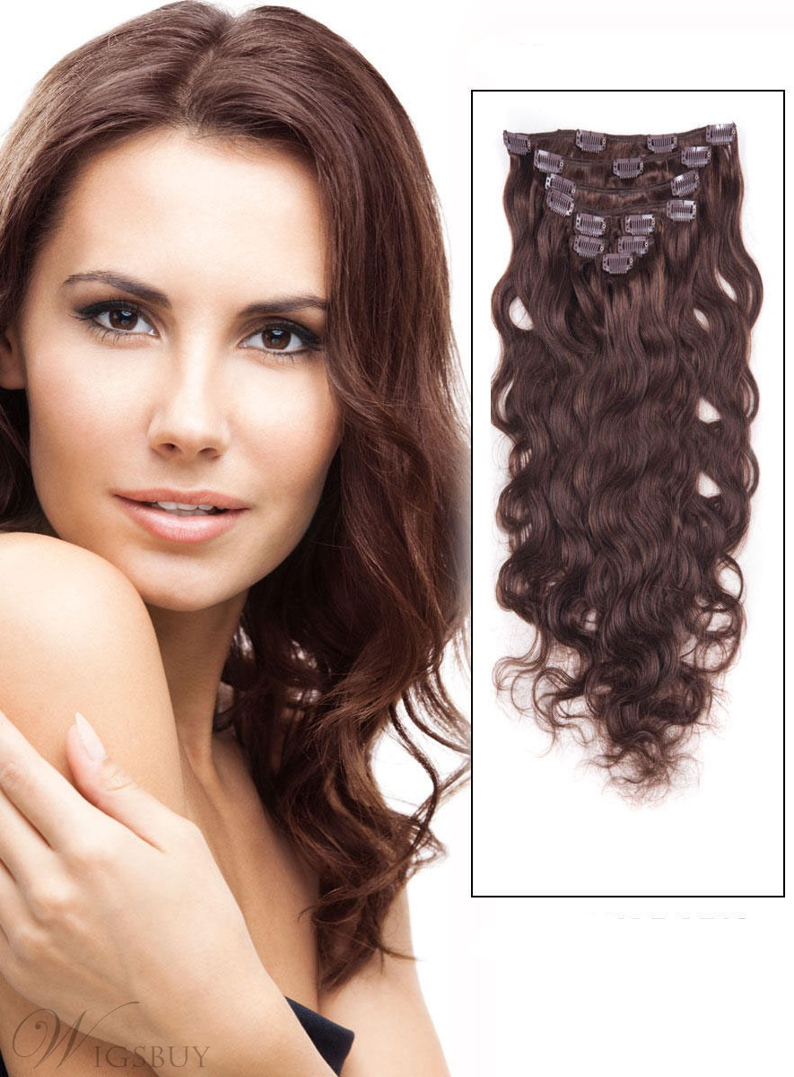 Wavy 7PCS Clip in Remy Human Hair Extensions