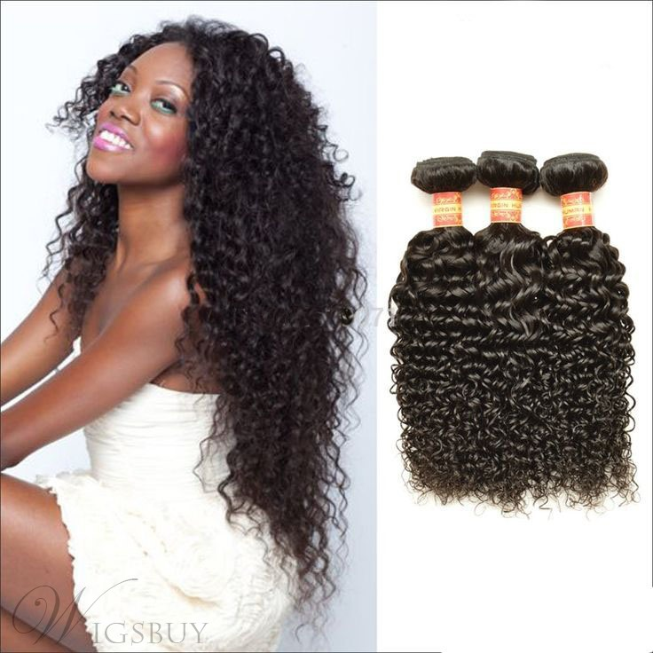 Kinky Curly Unprocessed #1B 100% Human Hair Weave 1 pack