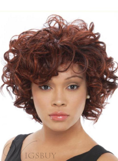 Charming Natural Short Curly Capless Synthetic Hair Wig 10 Inches