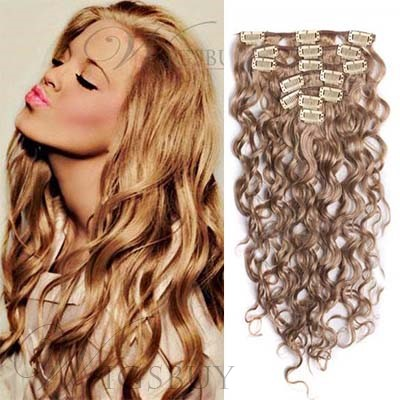 Clip In High Quality 100% Human Hair Loose Wave 7 pcs Clip in Hair Extensions