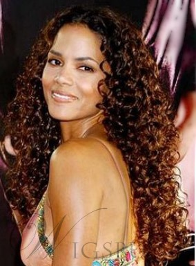 Super Sexy Gorgeous Halle Berry hairstyle Curly Hair Celebrity Full Lace Wig 100% Human Remy Hair 26 Inches