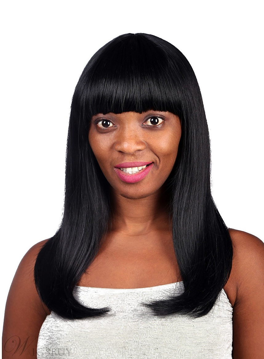 COSCOSS® Sweety Long Straight Synthetic Hair Capless Wig ...