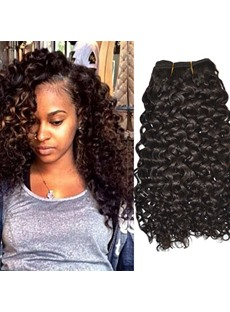 Black Women Remi Human Hair Hair Extesnion Kinky Curly Hair Weave 1 pc