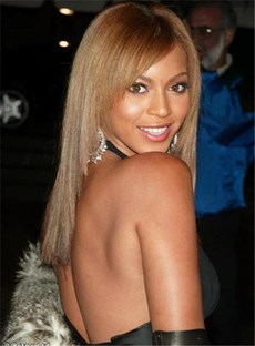 Beyonce New Celebrity Medium Straight Brown Lace Wig 16 Inches Makes You More Charming