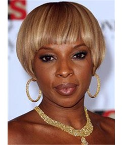 New Fashion Cool Extreme Short Straight Bob Cut Mixed Color Wig with Bang Makes You More Attractive