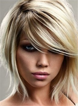 Latest Trend Short Hairstyle Unique Natural Synthetic Hair Wig