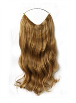 Elegant Wavy 100% Human Hair Flip In Hair Extension