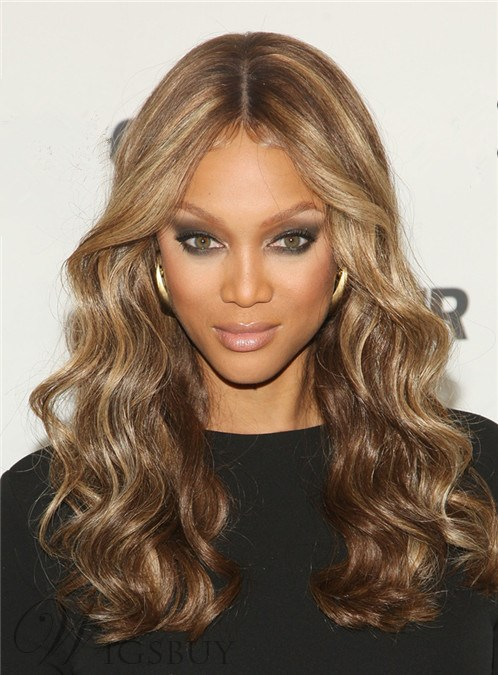 Top Quality Tyra Hairstyle Custom Synthetic Lace Wig Makes You Beautiful and Hot 20 Inches Wavy