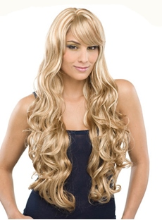 Electra Long Curly Synthetic Hair Wig 26 Inches