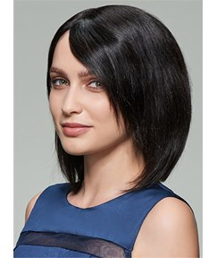 Mishair® Medium Straight Lace Front Cap Human Hair Wig 12 Inches