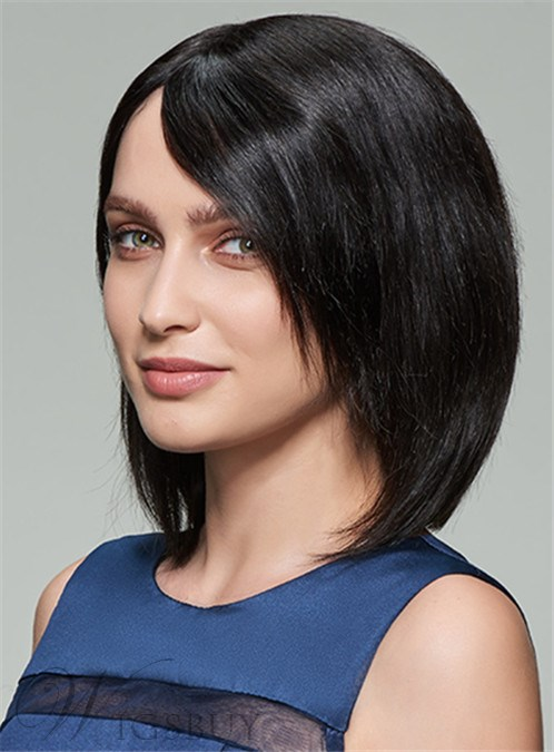 Mishair? Medium Straight Lace Front Cap Human Hair Wig 12 Inches 12404418