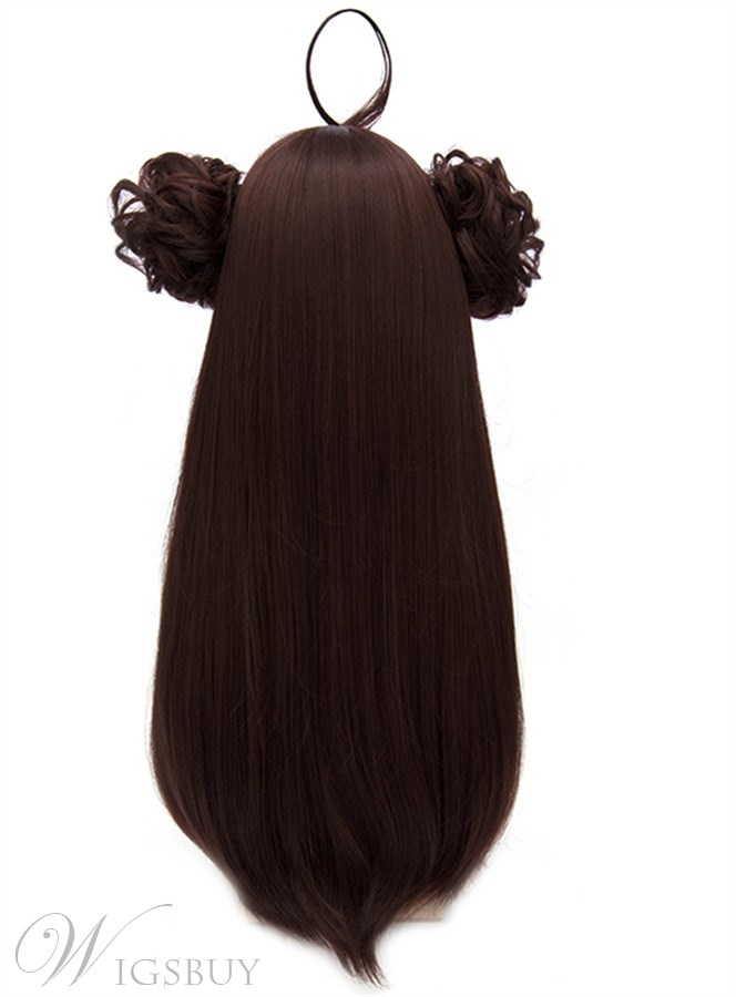 Kongo Style Cosplay Brown Long Wig 32 Inches