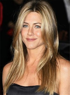 Custom The Charming Jennifer Aniston Hairstyle Long Straight 18 Inches100% Human Hair Full Lace Wig