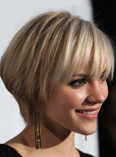 Custom Charming Celebrity Hairstyle Short Straight Bob 8 Inches 100% Human Hair Wig
