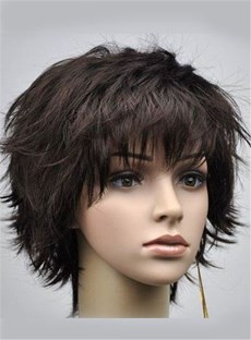 Gentle Short Curly Natural Black 10 Inches Synthetic Hair Wig