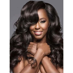 Attractive Sexy Long Deep Wave Human Hair Lace Front Wig 24 Inches