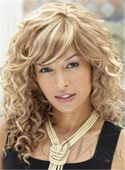 100% Human Hair The Same Hairstyle Of Tess Long Curly Blonde Natural Wig 16 Inches