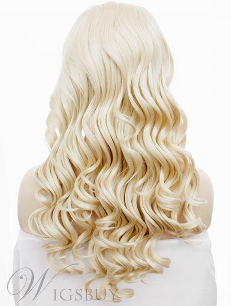 Beautiful Blonde Long Loose Wave Lace Front Wig Heat Resistant Hair 22 Inches