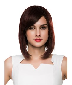 Mishair® Medium Straight Graduated Bob Human Hair Capless Wig 14 Inches