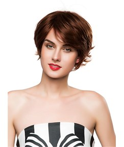 Mishair® Out Layer Cut Short Curly Human Hair Capless Wig 10 Inches