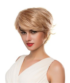 Mishair® Short Layered Cut Curly Human Hair Capless Wig 10 Inches