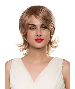 Mishair® Medium Wavy Human Hair Capless Wig 14 Inches