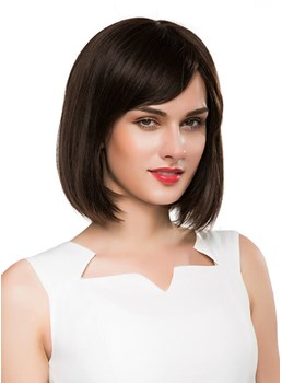 Mishair® Medium Straight Bob Human Hair Capless Wig 14 Inches