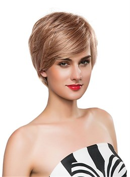 Mishair® Messy Short Straight Human Hair Capless Wig 10 Inches