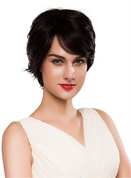 Mishair® Short Curly Elegant Hair Human Capless Wig 10 Inches