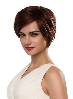 Mishair® Short Side Part Straight Human Hair Capless Wig 10 Inches