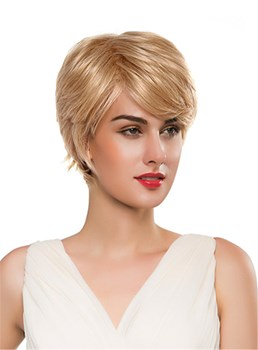 Mishair® Short Curly Human Hair Capless Wig 10 Inches