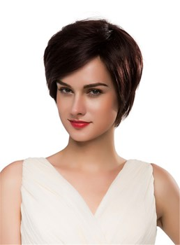 Mishair® Short Straight 100% Human Hair Capless Wig 10 Inches