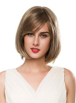 Mishair® B.o.B Medium Straight Human Hair Capless Wig 14 Inches