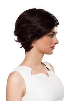 Mishair® Short Side Part Wavy Human Hair Capless Wig 10 Inches