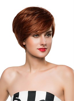 Mishair® Straight Short Side Part Human Hair Capless Wig 10 Inches