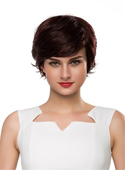 Mishair® Short Wavy Human Hair Capless Wig 10 Inches