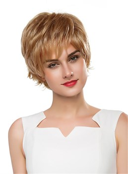 Mishair® Short Wavy Layered Human Hair Capless Wig 10 Inches