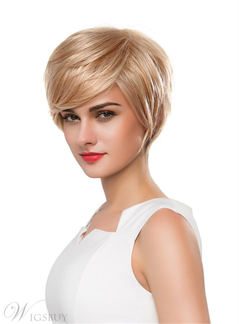 Mishair®Short Straight Human Hair Capless Wig 10 Inches 12690673