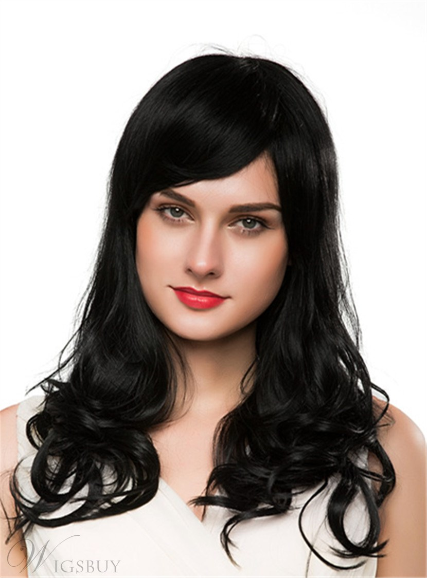 Mishair® Long Wavy Cut Human Hair Capless Wig 22 Inches 12690655