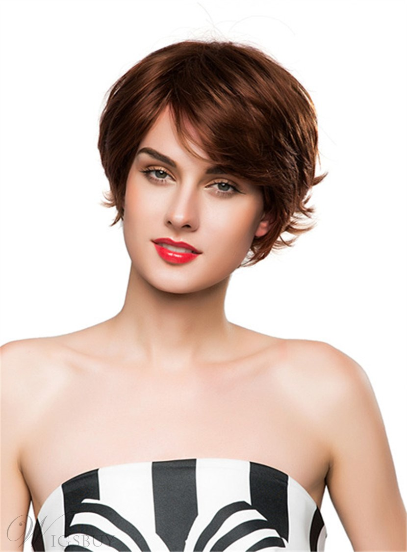 Mishair Out Layer Cut Short Curly Human Hair Capless Wig - Curly cut dc