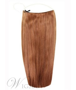 Light Chestnut Smooth Straight Human Hair Flip In Hair Extension