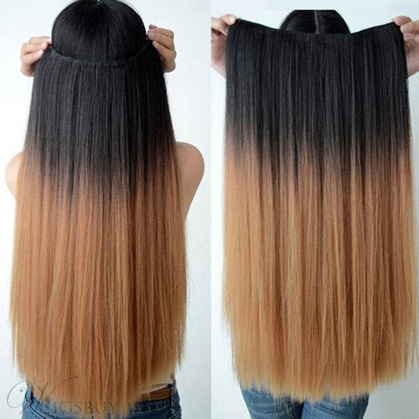 Fashionable Straight Human Hair Flip In Hair Extensions 16 Inches 26