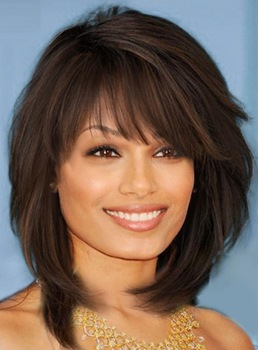 Find Easy Long Layered & Angled Bob Hairstyles with Bangs for Women ...