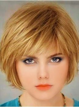 Lovely Short Straight Bob Hairstyle Capless Synthetic Wig 8 Inches