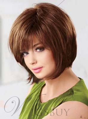 Top Quality Short Straight Capless 100% Human Hair Wig 10 Inches