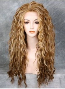 Sweet Long Wavy Synthetic Hair Lace Front Cap Wig 24 Inches