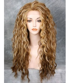 Long Wavy Synthetic Hair Lace Front Women Wigs 24 Inches